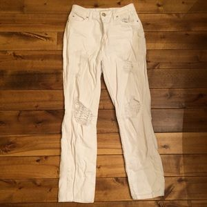 Streetwear Society White Distressed Jeans sz 0